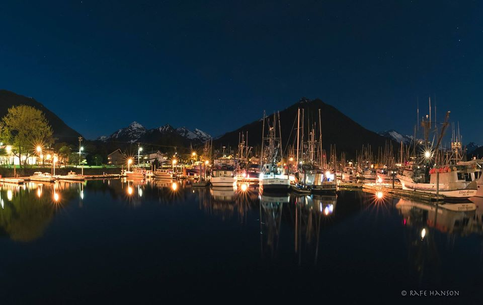 Sitka Docks At Night