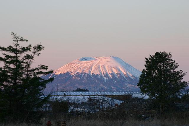 A photo of Mount Edgecumbe in Alaska